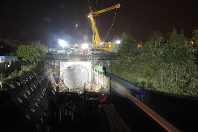 Farnworth Tunnel at night