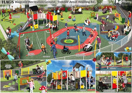 OPTIONA - Hags - Toddler Play Visual: Winning design for the toddler area of Blagrave Recreation Ground