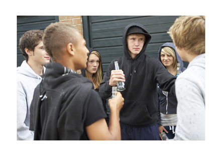 Youths drinking image