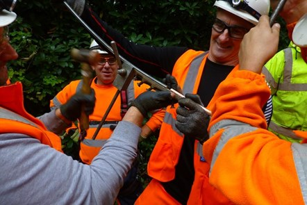 Heaton Park Tramway Repairs 1: The Pod-Trak team get stuck into cable repairs