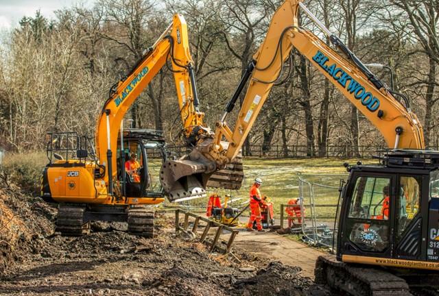 1 April dualling diggers on ramp