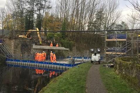 Burnley canal bridge day