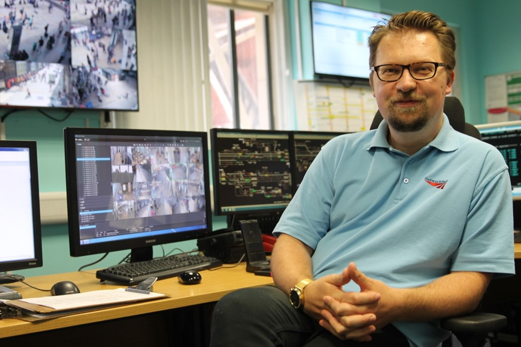 Paddington Station 24/7:  The perfect match – Network Rail and British Transport Police team up to help thousands of football fans travelling through London Paddington: Graeme Parker in the London Paddington control room