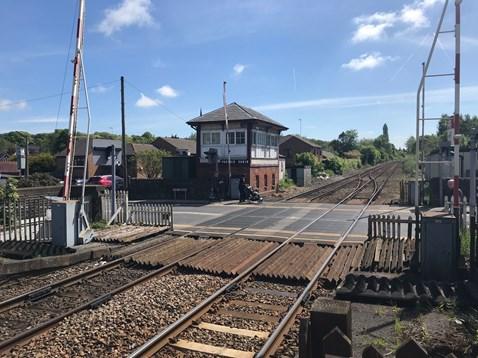 Parbold level crossing