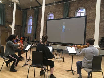 Siemens and the Hallé orchestra develop virtual conductor: Halle orchestra trialling the Siemens avatar (002)