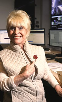 Dame Barbara Windsor wears her Poppy with pride