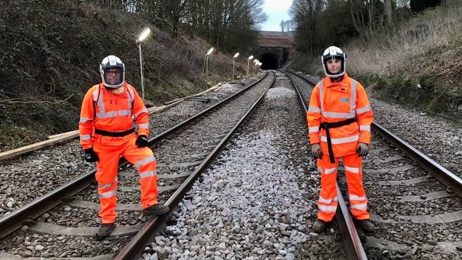 Railwayworkcontinuestokeepcriticalsuppliesand key workers moving: Howerd Kernahan and his son Rafael (1) (1)