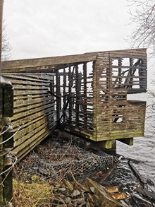The hide after the fire 2 ©Simon Ritchie/NatureScot