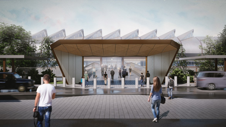 Interchange Station bridge portal April 2020: Credit: HS2 Ltd / Arup