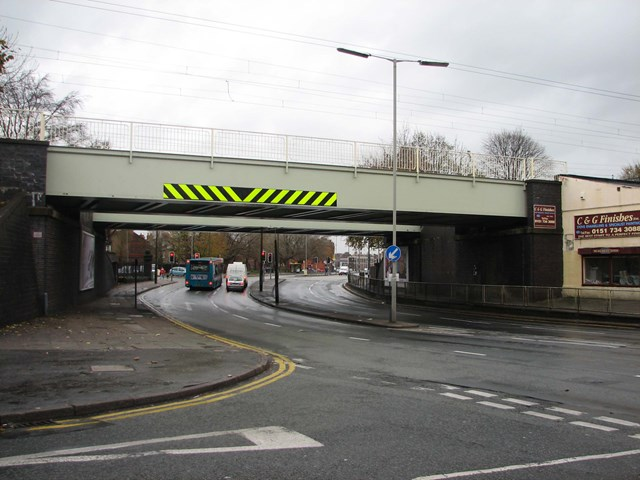 Smithdown Road, Liverpool: The bridge after completion of the £70,000 refurbishment project.