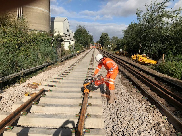 Track renewal works on East Suffolk line to improve reliability: Cantley renewals 4