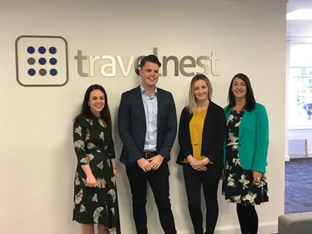 TravelNest invests £7 million to establish Edinburgh operation: TravelNest Ms Forbes visit 011118