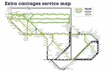 Extra carriages service map