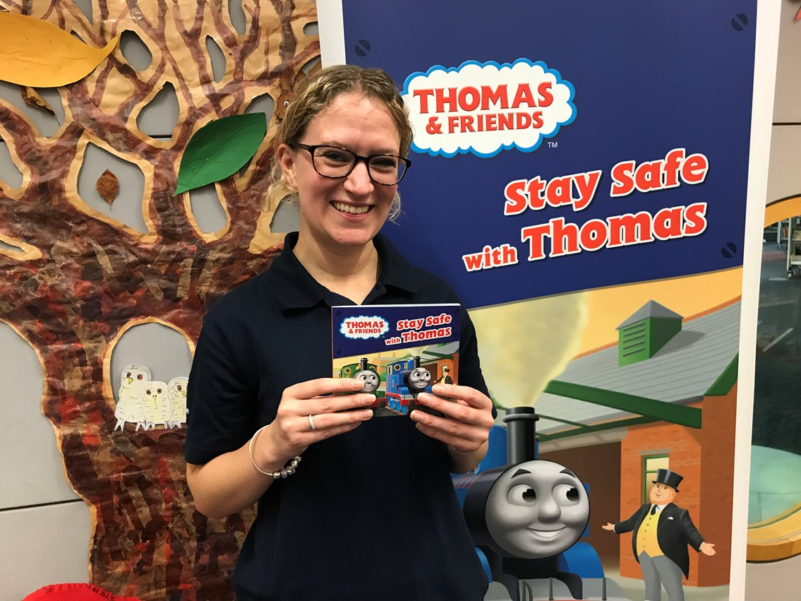 Network Rail launches new Thomas the Tank Engine book at Norwich Library to teach children railway safety: Stay Safe with Thomas launch in Norwich
