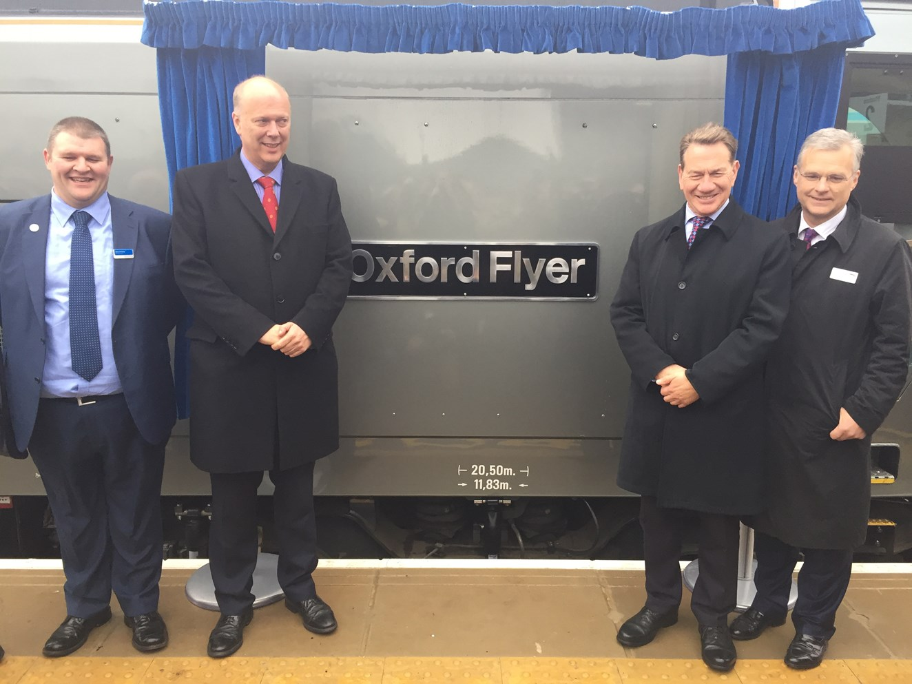 Network Rail and Chiltern Railways open ground-breaking new rail line connecting Oxford city centre and London: Launched: Chiltern's Oxford to Marylebone service – December 2016