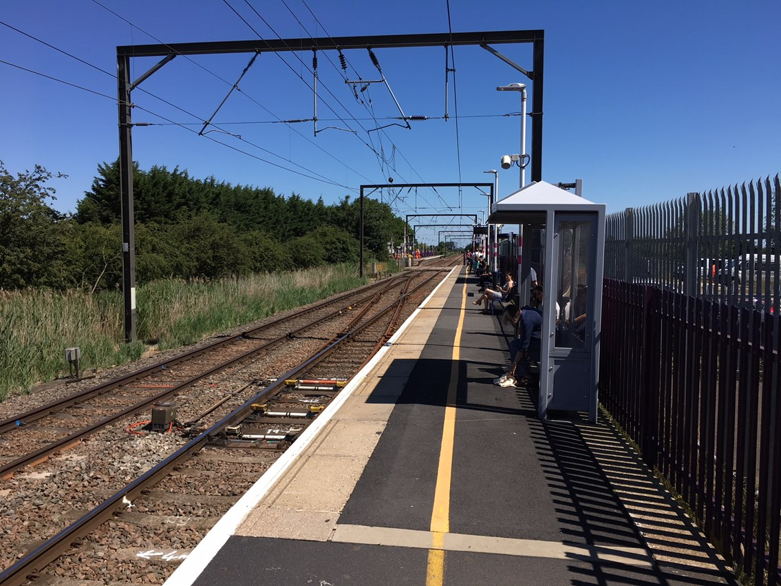 Work set to start this autumn to allow eight car trains to run between Cambridge and King's Lynn: Waterbeach station