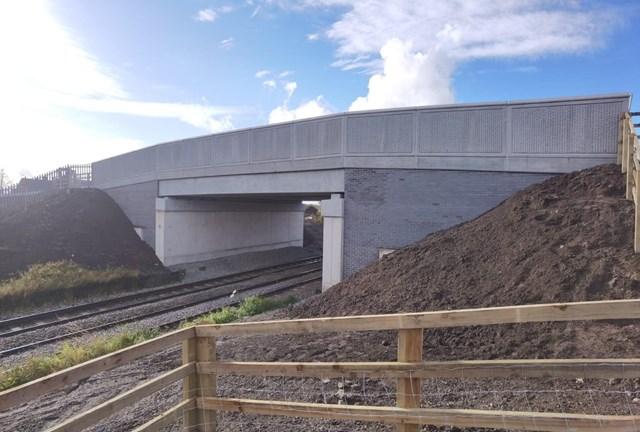 Crewe bridge overhaul improves journeys for road users and passengers: Boulderstones railway bridge