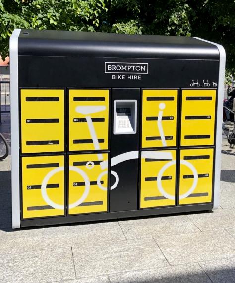 Brompton Bike Hire kiosk