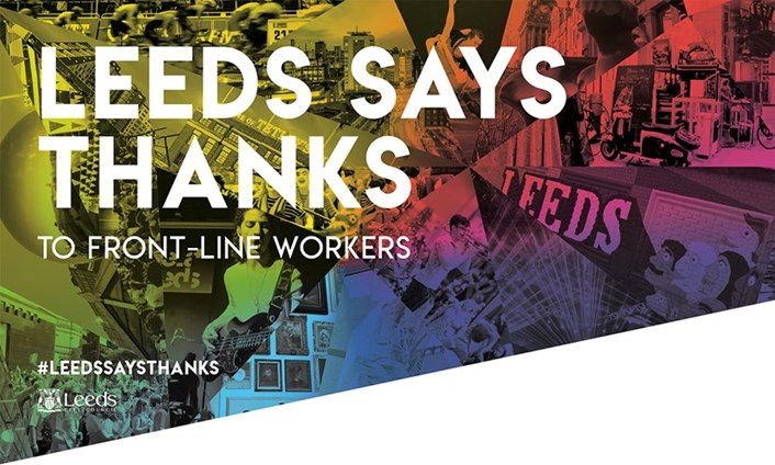 NHS thankyou: The popular #LeedsSaysThanks initiative is returning later this year.