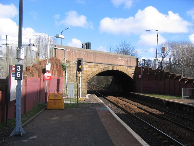 Titwood Road Bridge - before replacement: Titwood Road Bridge - before works started to replace the bridge.