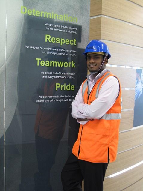Londoner Prakash Navaratnarajah, Network Rail's 1000th apprentice