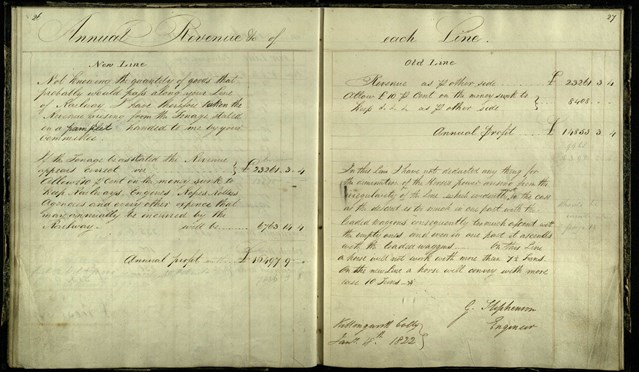 One of the world's most historically important railway artefacts has been rediscovered by Network Rail after more than 50 years: Signature pages from George Stephenson's notebook