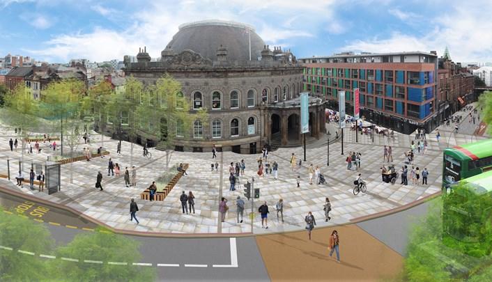 Senior councillors approve £21.5million Corn Exchange Connecting Leeds improvements scheme: connectingleedscornexchange.jpg