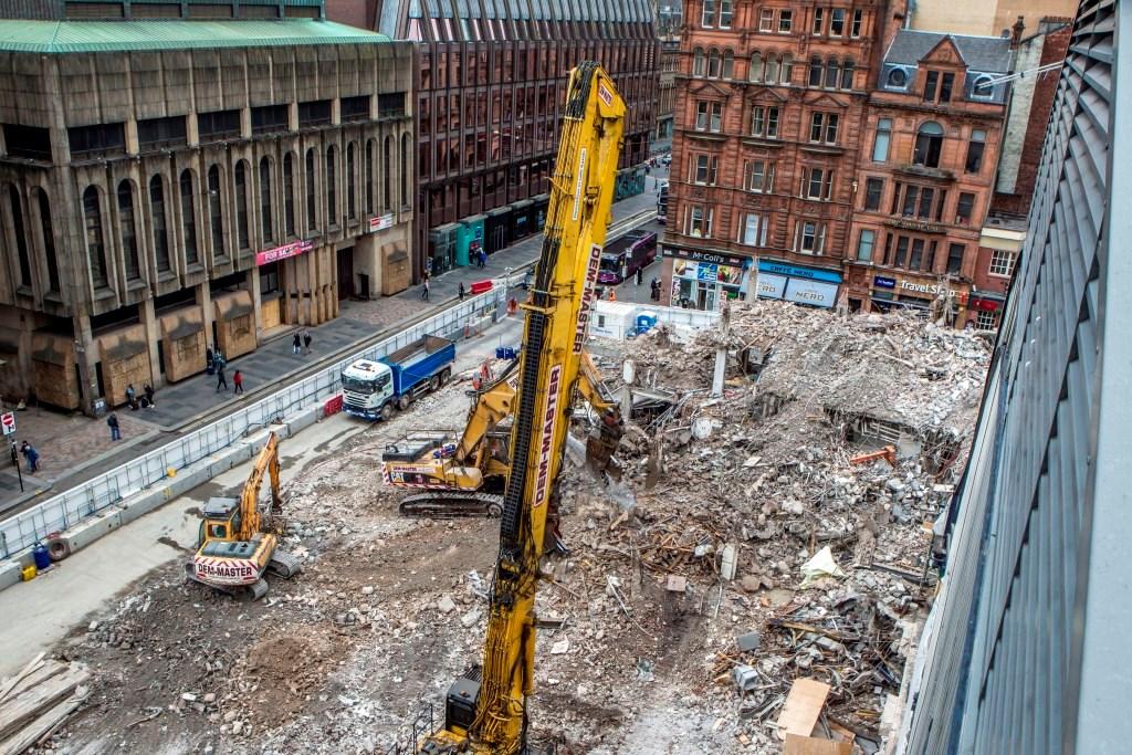 Queen Street - Consort House demolition progress, June 25 2018