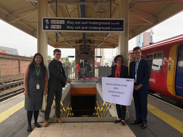 Better journeys at London's Vauxhall station following congestion-busting project: Wessex Capacity Alliance project team Vauxhall