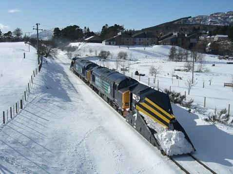 A snow plough as part of our winter fleet
