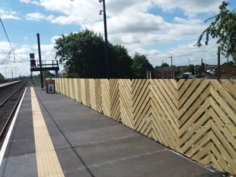 Platform extension at Northallerton station ahead of Virgin's Azuma trains entering service