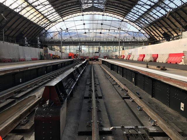 Early completion for Queen Street platform works: Glasgow Queen Street extended 4&5