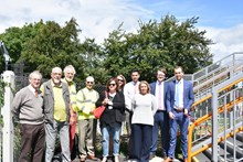 Network Rail is joined by Dorset County  Council, Purbeck District Council and Wool Parish Council for the opening of the new footbridge at Wool 2