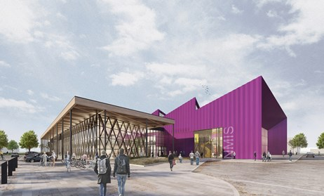 Planning permission submitted for National Manufacturing Institute Scotland: HLM Architects - NMIS Eye View