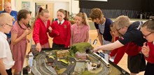 Rail safety model: Can you spot the danger? Children from Rose Green School in Bognor Regis compete to spot dangers on the railway thanks to this model by the town's model railway society