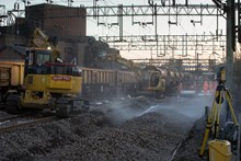 Track upgrades at Witham March 2015