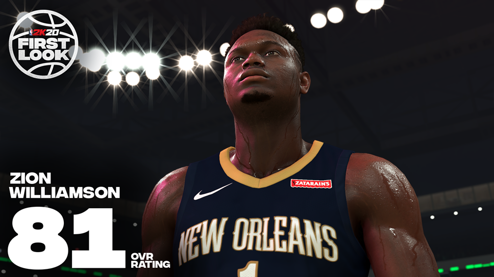 Got Next! NBA® 2K Partners with #1 NBA Draft Pick Zion Williamson: NBA2K20 Zion Williamson Horizontal