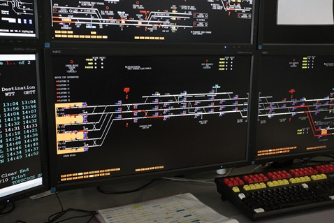 Three Bridges ROC London Bridge signallers' workstation