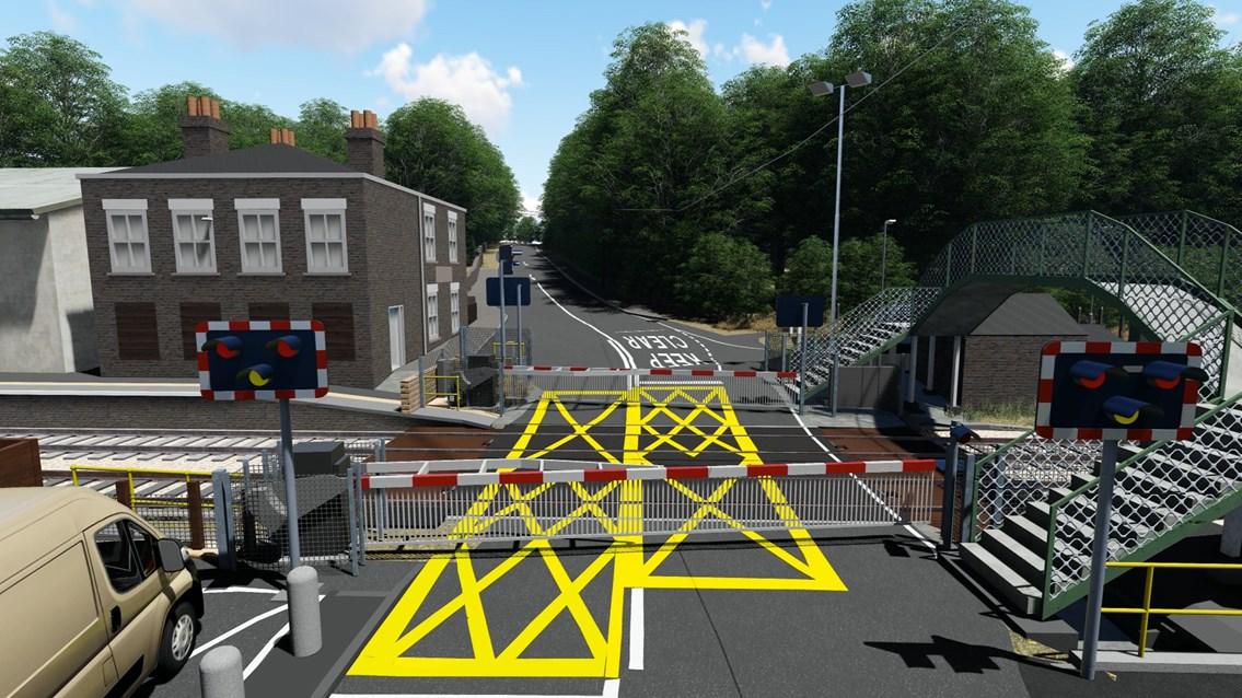 Brundalls level crossing