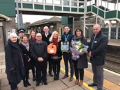 Stolen Bridgend Station defibrillator replaced thanks to fantastic donation by Welsh Hearts: IMG 2169