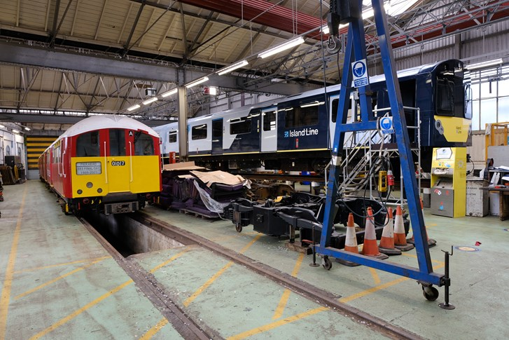 Old and new at Ryde depot - Island Line