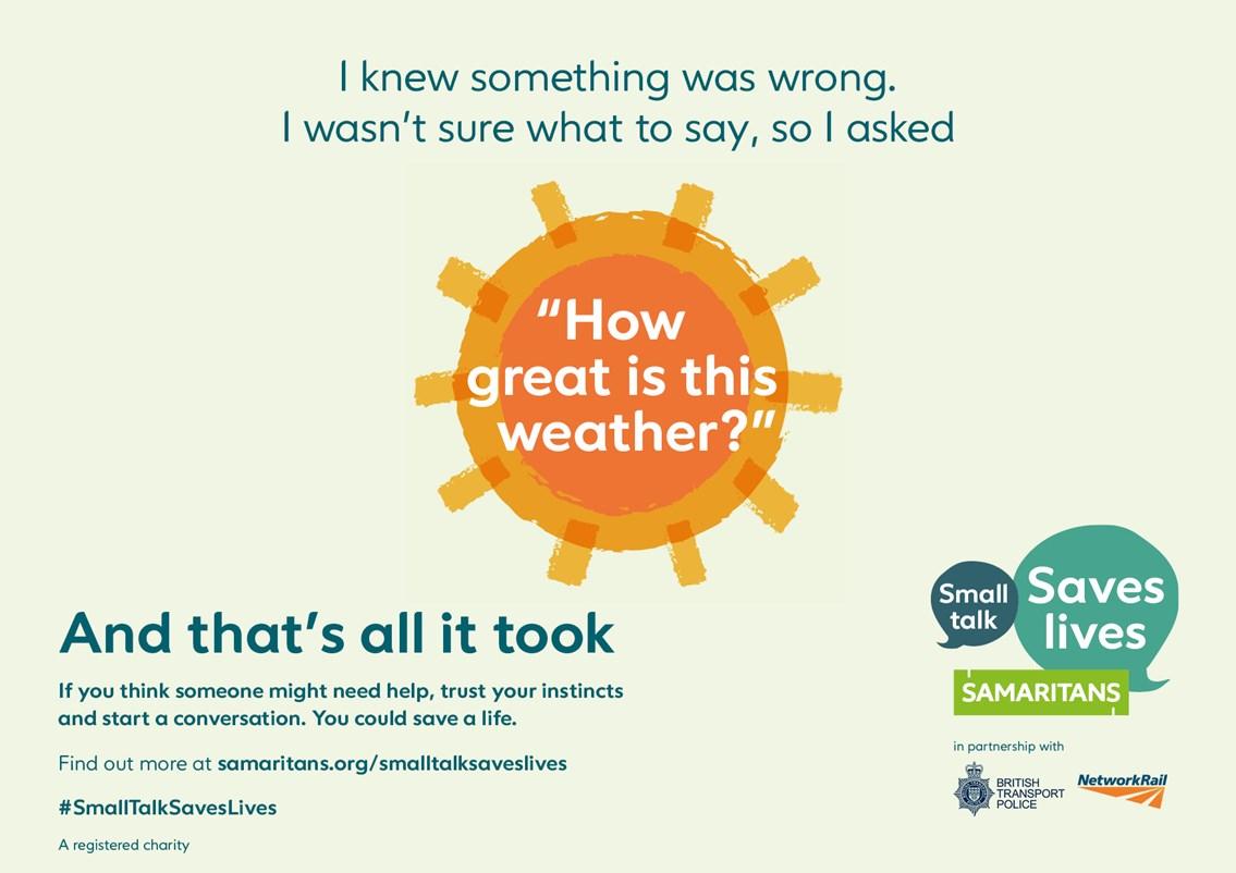 Small Talk Saves Lives Poster 1 Landscape