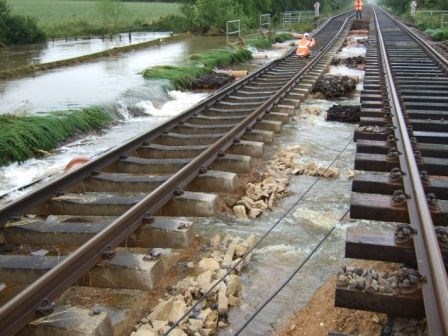 Cotswold Line Flooding: Water damage at Moreton-in-Marsh