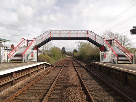 Llanfairpwll station footbridge given a face-lift by Network Rail