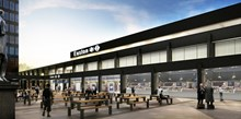 Euston station piazza development: Passengers at Euston can look forward to a bigger, better station with more shops and a wider choice of food and drink as Network Rail begins a £12.5m development of the station