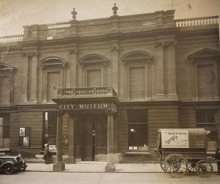 Museum Windows project: Leeds City Museum as it was in 1936, when the museum was located on Park Row. Credit LMG Institutional Archive, Leeds Museum & Galleries.