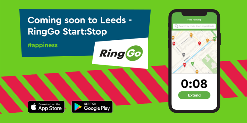 Cashless parking is transferring from Parkmobile to RingGo Start:Stop: Twitter - Leeds coming soon