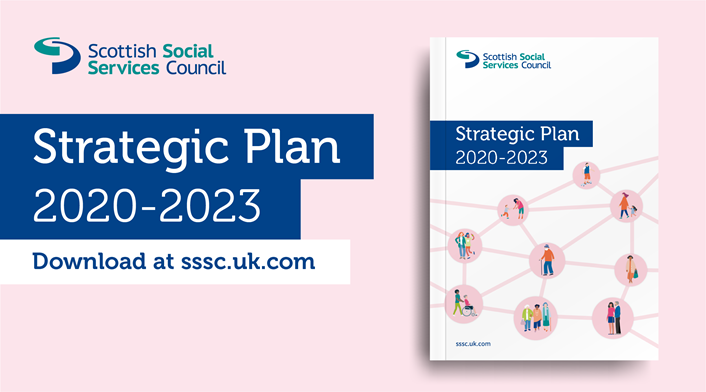 New 2020-23 SSSC strategic plan to support social services: SSSC Strategic Plan 2020-23 (image)