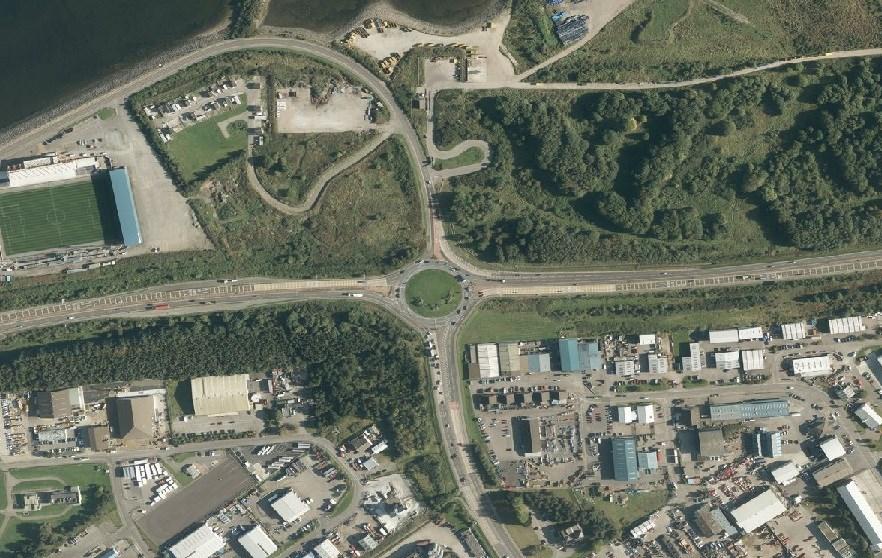 Longman roundabout  - aerial shot