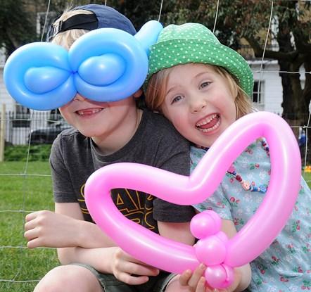 Islington in Bloom launch 2019 - balloons in Duncan Terrace Gardens